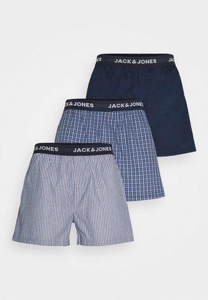 JACCHECK 3 PACK - Boxer shorts - dress blues/light grey melange