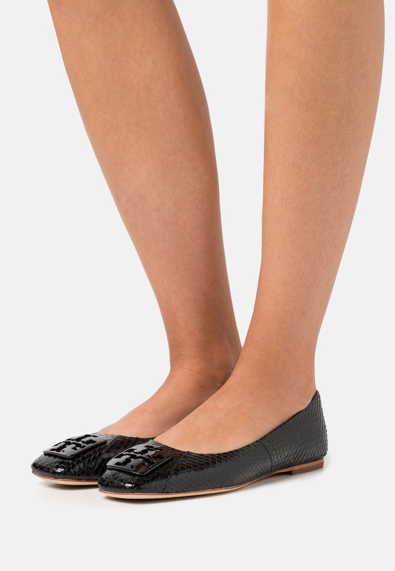 Tory Burch - SQUARE TOE - Ballet pumps - perfect black