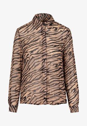 Button-down blouse - animal print