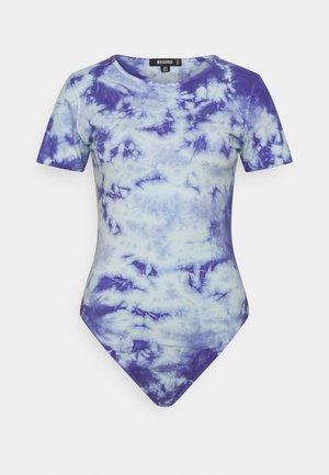 TIE DYE CAP SLEEVE - Print T-shirt - blue