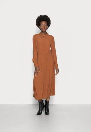 MIDI DRESS - Maxi dress - amber brown