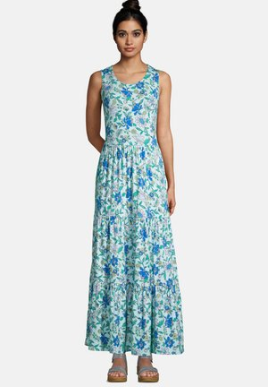 Maxi dress - blue radiance lotus floral