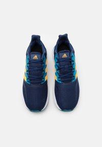 adidas Performance - RUNFALCON - Zapatillas de running neutras - tech indigo/solar gold/signal cyan - 3