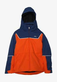 Kjus - BOYS SPEED READER JACKET - Ski jacket - orange/south blue - 4