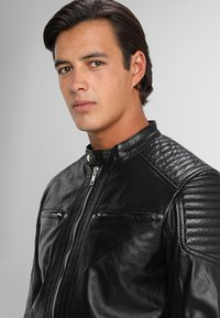 Solid - TOPPER - Veste en cuir - black - 3