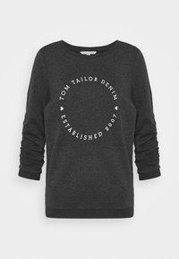 TOM TAILOR DENIM - LOGO PRINT - Sweatshirt - shale grey melange - 6