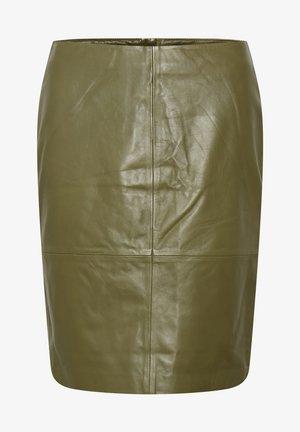 FOLLY SKIRT - Pencil skirt - martini olive