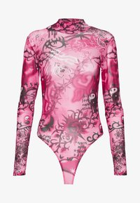 Jaded London - HIGH NECK LONG SLEEVE BODY - Blouse - pink scibble - 3