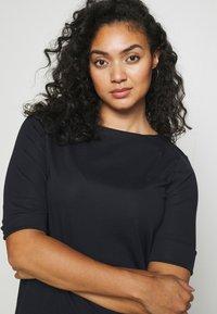 Lauren Ralph Lauren Woman - JUDY ELBOW SLEEVE - Basic T-shirt - navy - 3