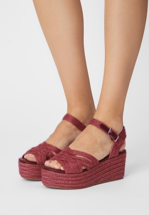 NEW SOCOTRA - Platform sandals - burdeos