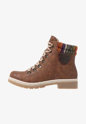 Lace-up ankle boots - nuss/antik/orange/multicolor/kastanie