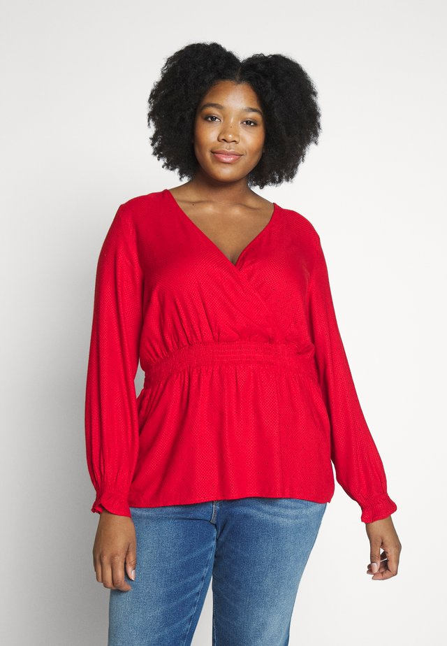 JRJASMINE BLOUSE - Camicetta - barbados cherry/black dot