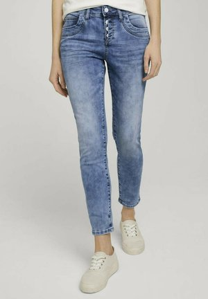 Jeans baggy - used mid stone blue denim