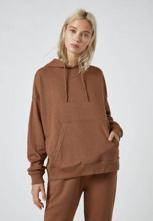 Kapuzenpullover - brown
