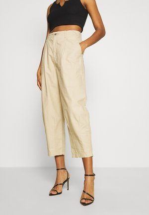 UTILITY PLEATED BALLOON - Trousers - crisp