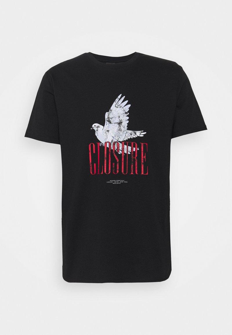 CLOSURE London - PAX TEE - Printtipaita - black