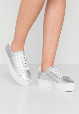 PLATO - Sneaker low - white/silver
