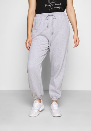 PLUS SIZE JOGGERS - Tracksuit bottoms - grey
