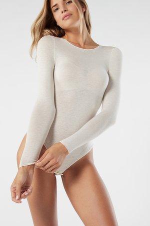 LANGARM-BODY AUS KASCHMIR-MODAL ULTRALIGHT - Body - vaniglia