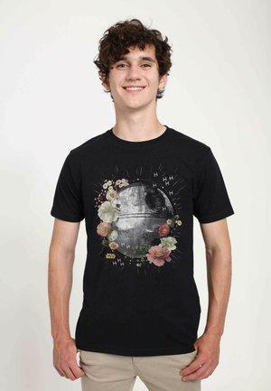 STAR WARS UNISEX FLORAL DEATH STAR  - T-shirt med print - black