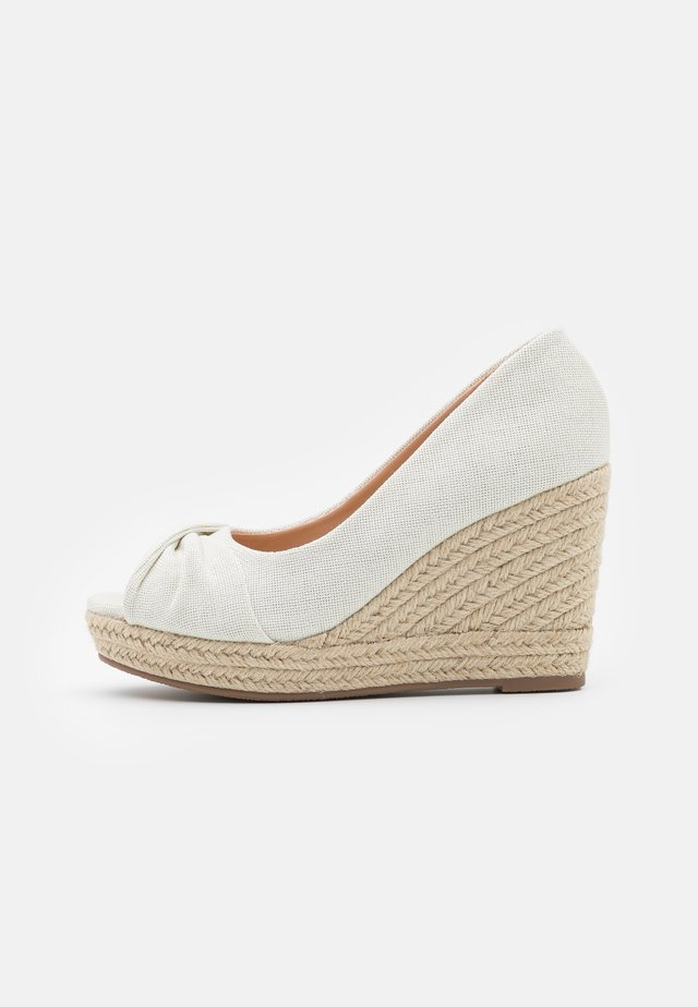 WHIRL - Peeptoe heels - natural