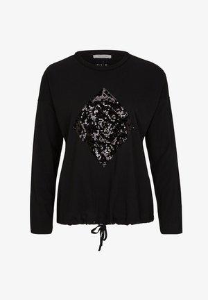 Long sleeved top - black sequins