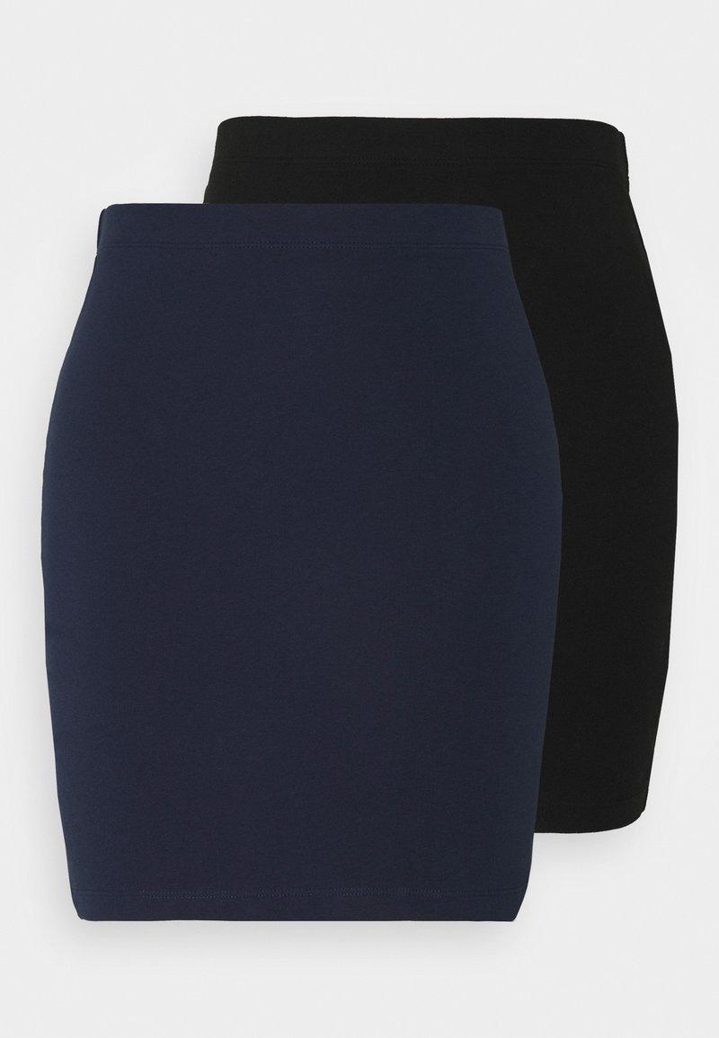 Even&Odd Tall - 2 PACK - Mini skirt - dark blue/black