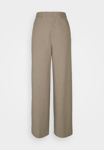 GRITA PANTS - Trousers - sand/black
