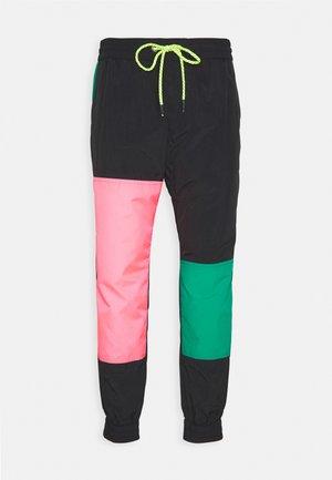 PANTALONE - Pantaloni sportivi - nero/verde/rosa