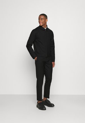 HARRINGTON JACKET AND DRAWCORD TROUSERS SET - Trousers - black