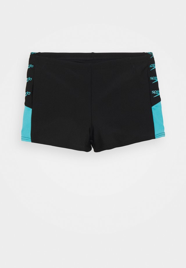 BOOM LOGO SPLICE AQUASHORT - Swimming shorts - black/light adriatic