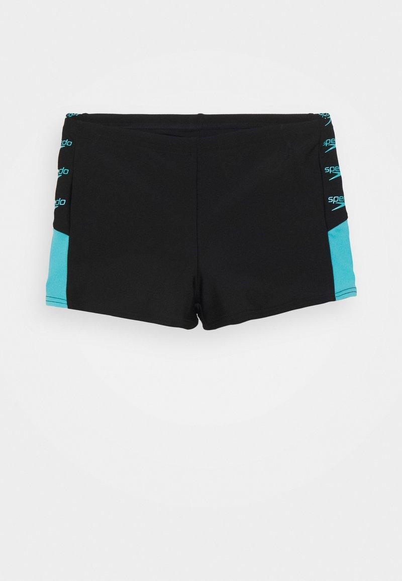 Speedo - BOOM LOGO SPLICE AQUASHORT - Swimming shorts - black/light adriatic