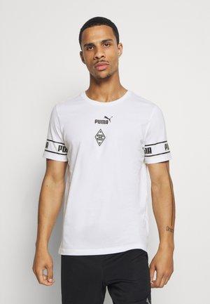 BORUSSIA MÖNCHENGLADBACH TEE - Club wear - white/black