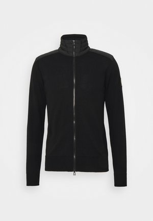 KELBY ZIP CARDIGAN - Strickjacke - black