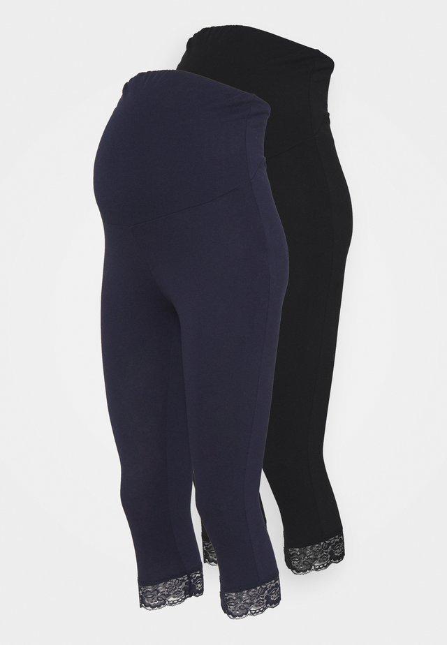 2 PACK - Leggings - black/dark blue