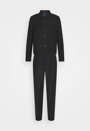 LIGHTWEIGHT WORKER JACKET AND TROUSERS - Tygbyxor - black