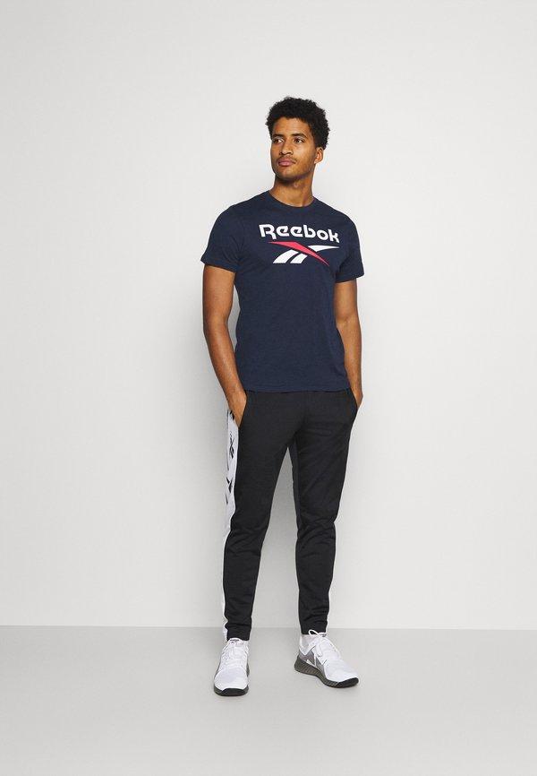 Reebok BIG LOGO TEE - T-shirt z nadrukiem - dark blue/granatowy Odzież Męska ILYC