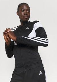 adidas Performance - COLORBLOCK - Tracksuit - black/white - 5