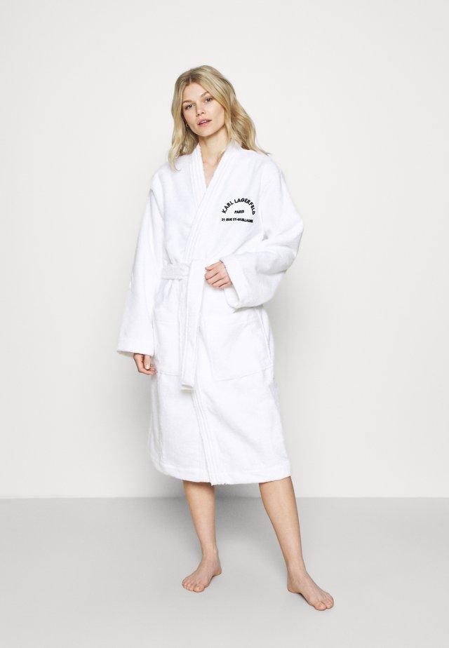 ADDRESS LOGO BATHROBE - Dressing gown - white