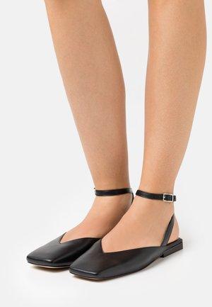 CALAS - Ankle strap ballet pumps - noir
