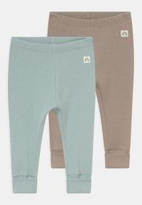 Lindex - SOLID 2 PACK UNISEX - Leggings - Trousers - light dusty aqua - 0