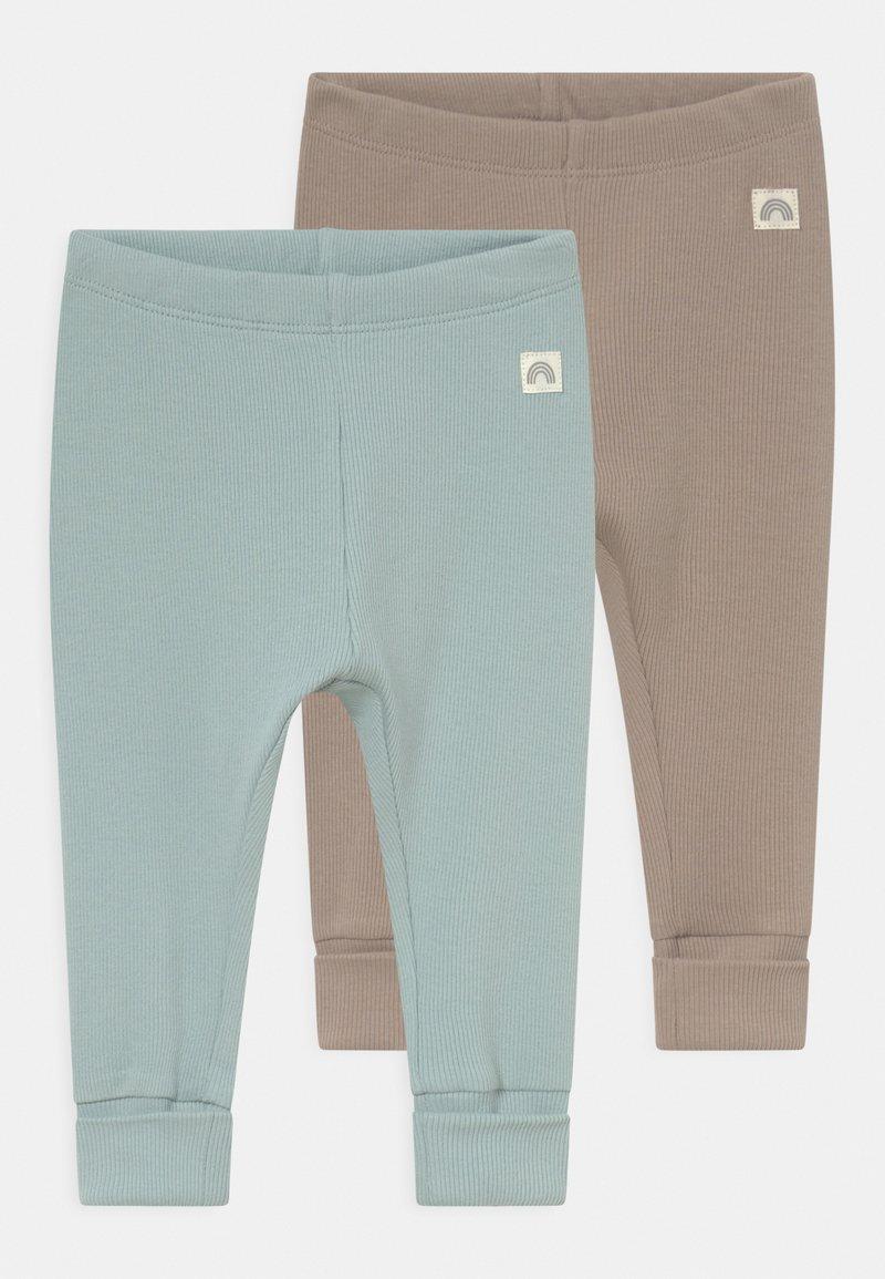 Lindex - SOLID 2 PACK UNISEX - Leggings - Trousers - light dusty aqua