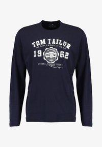 TOM TAILOR - LONGSLEEVE PRINT TEE - Maglietta a manica lunga - navy - 4