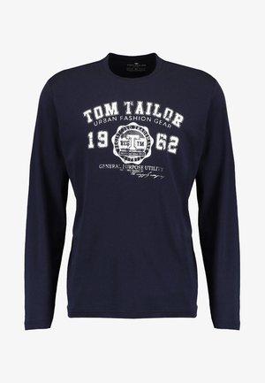 LONGSLEEVE PRINT TEE - Long sleeved top - navy