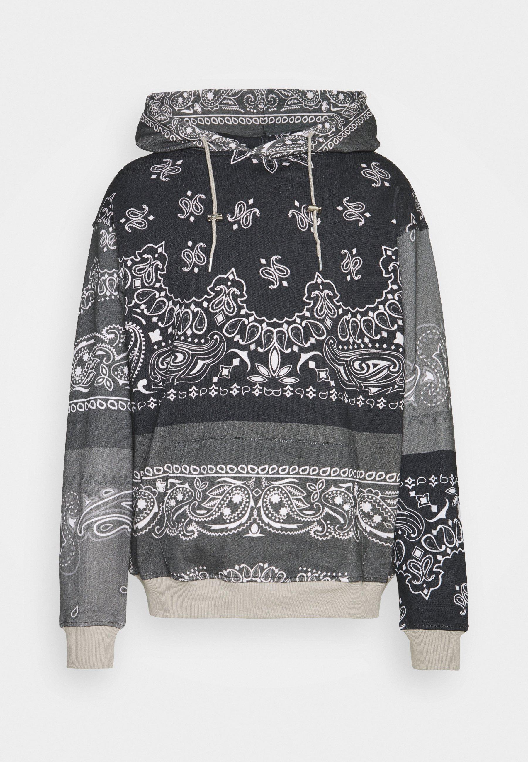 Men BANDANA PRINT REGULAR HOODIE UNISEX - Sweatshirt