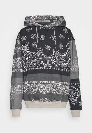 BANDANA PRINT REGULAR HOODIE UNISEX - Sweatshirt - dark grey