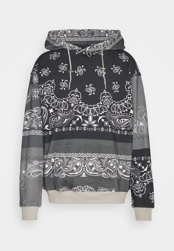 BANDANA PRINT REGULAR HOODIE UNISEX - Sweatshirt - dark grey