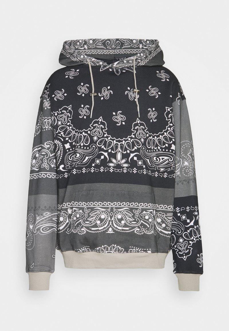 Mennace - BANDANA PRINT REGULAR HOODIE UNISEX - Sweatshirt - dark grey