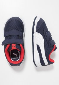 Puma - STEPFLEEX 2 - Sports shoes - peacoat/white/high risk red - 0