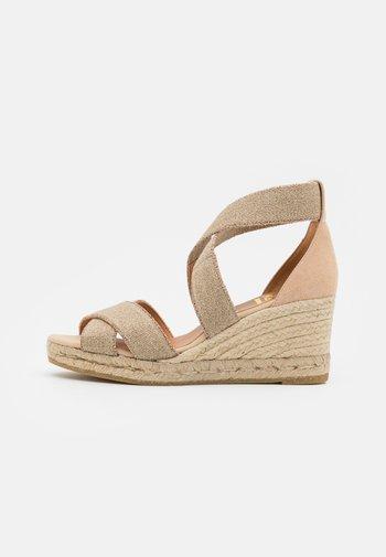 LAURA - Platform sandals - natural/beige